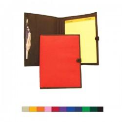 Custom Logo 600D Polyester Notebook Organizer with Snap Closure & Zipper Pocket