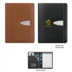 "Custom Logo Eclipse Bonded Leather 5"" X 7"" Portfolio"