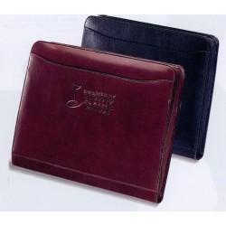 Custom Logo Black Atlantis Leather Portfolio