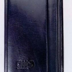 Custom Logo Black Atlantis Leather Junior Portfolio