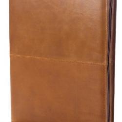 Custom Logo Conference Zip Padfolio - Tuscan Leather