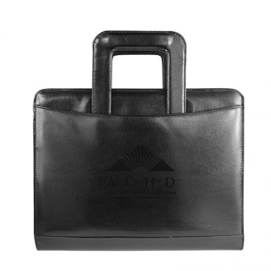 Custom Logo Atlantis Leather 3-Ring Portfolio